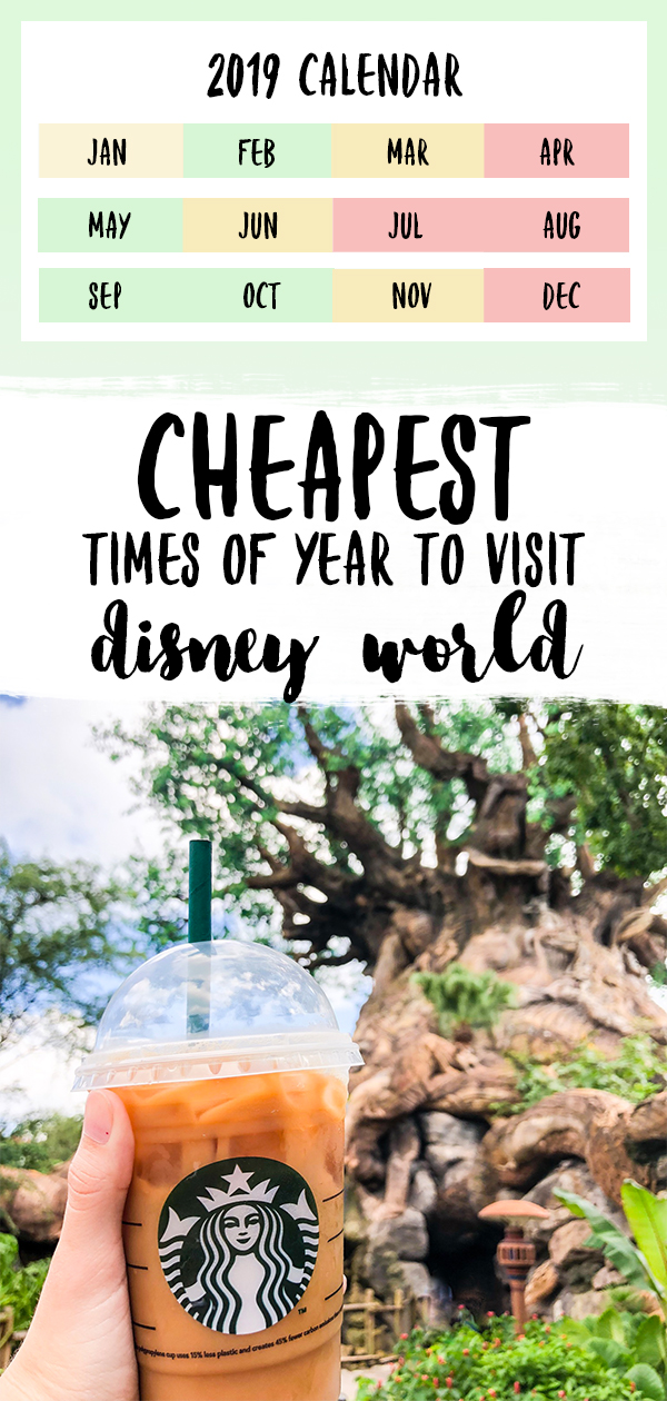 cheapest times of year to visit disney world