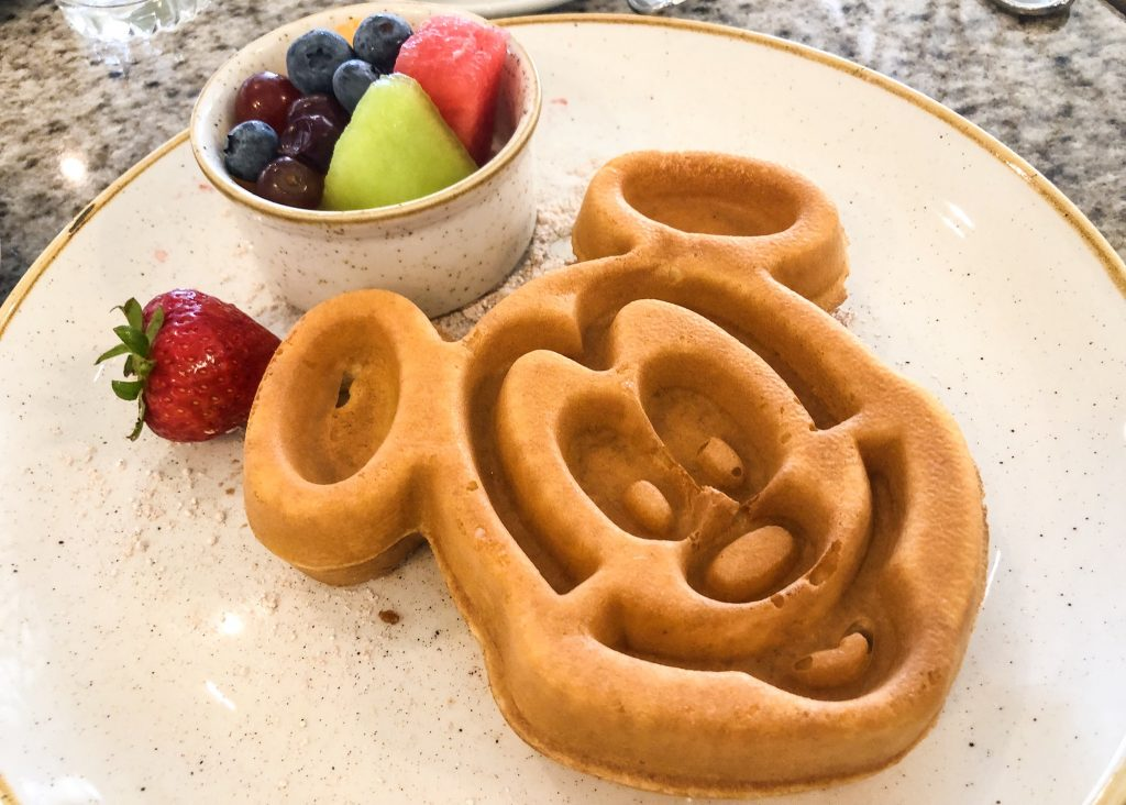 Grand Floridian Cafe Mickey Waffle and Fruit