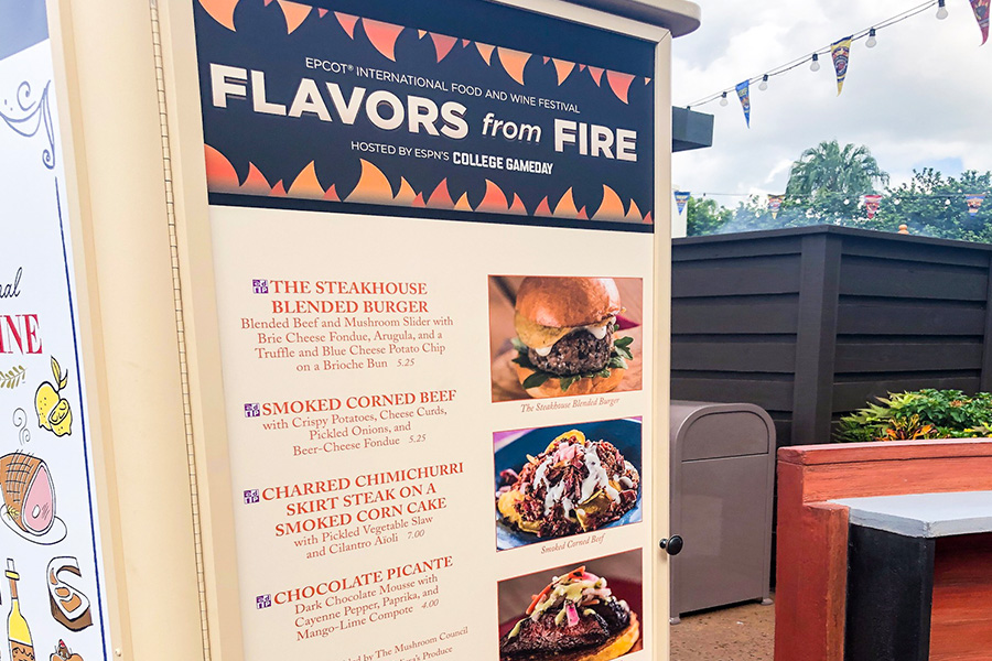 Epcot Food and Wine Festival Tips Signage